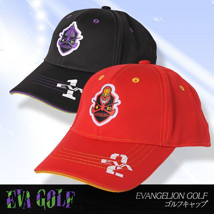 エヴァンゲリオン キャップ(帽子) EVANGELION GOLF  エヴァゴルフ EVA GOLF1