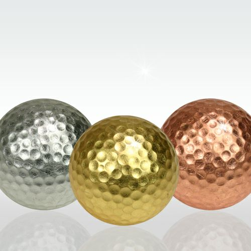 金・銀・銅箔ゴルフボール メダリスト3個セット1